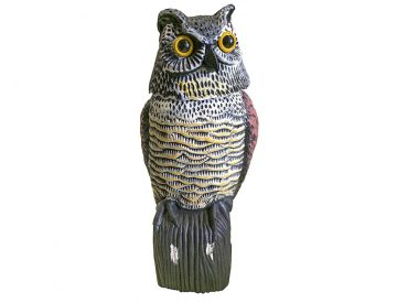 owl bird scarer figure