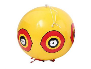 Gelbe kugelförmige Vogelscheuche